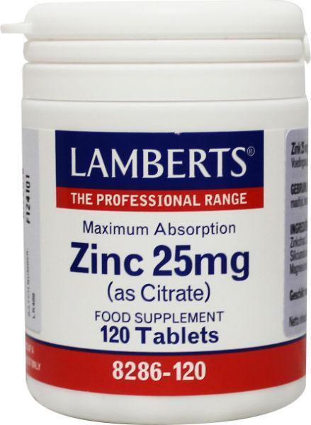 Zink citraat 25 mg
