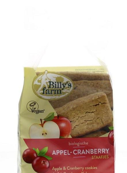 Appel cranberry staafjes bio
