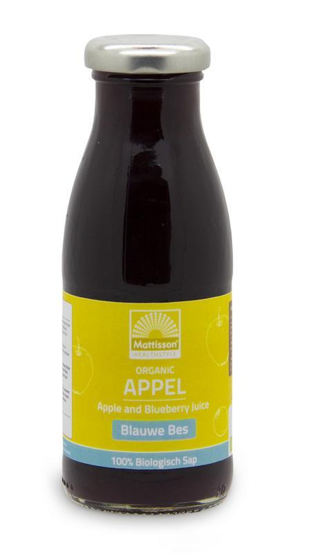 Appel blauwe bessensap/Apple blueberry juice bio
