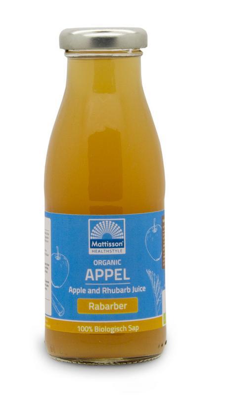 Appel en rabarbersap/Apple and rhubarb juice bio