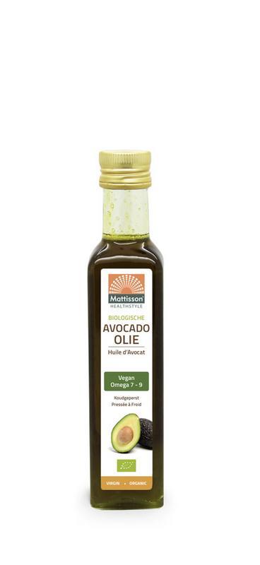 Biologische avocado olie virgin koudgeperst bio