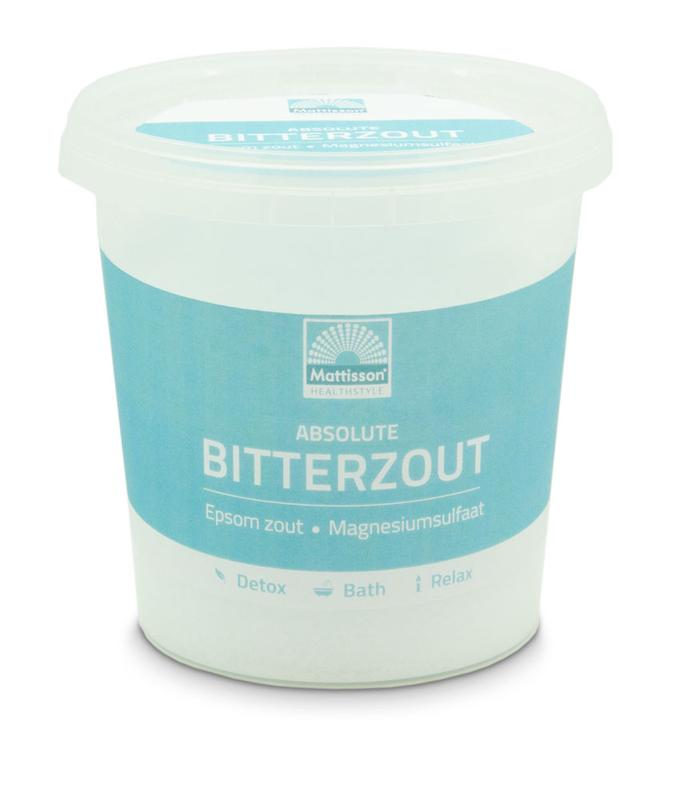 Bitterzout epsom zout magnesiumsulfaat