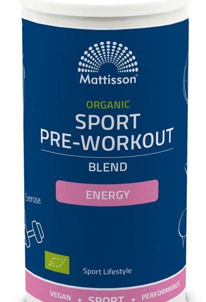 Organic sport pre-workout energy blend