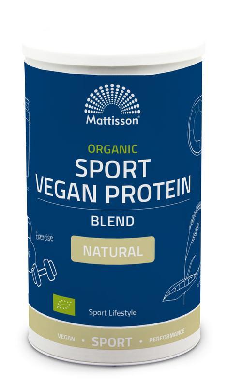 Organic sport vegan protein blend natural