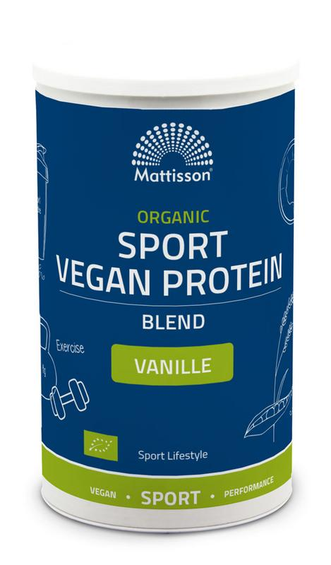 Organic sport vegan protein blend vanille