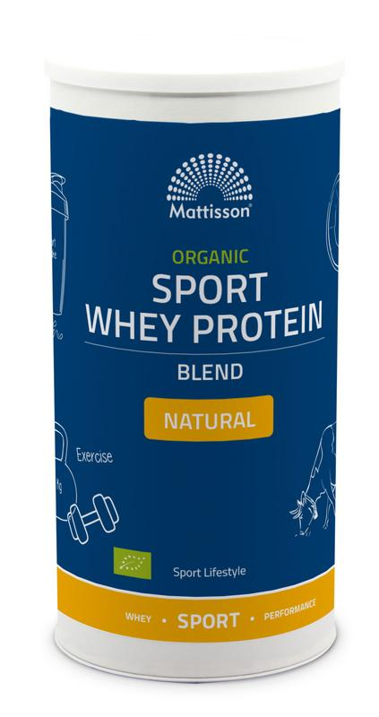 Organic sport whey protein blend natural