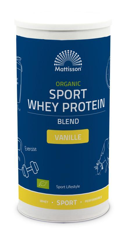 Organic sport whey protein blend vanille