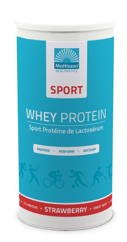 Sport wei whey proteine concentraat aardbei