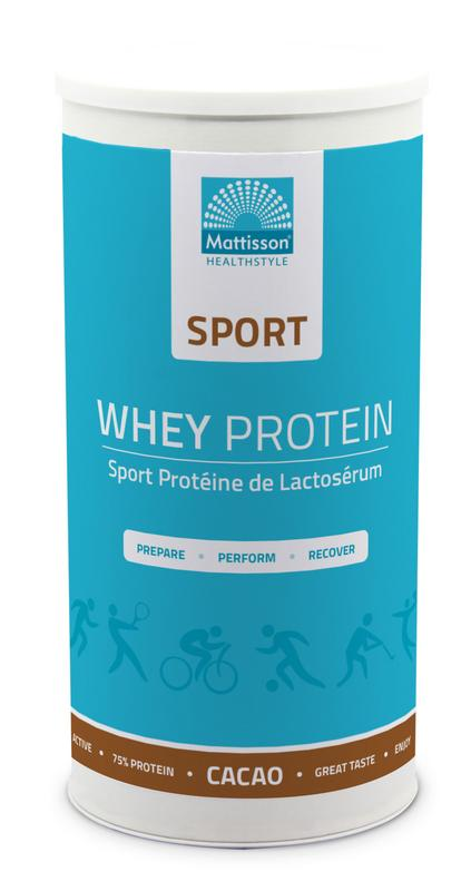 Sport wei whey proteine concentraat cacao