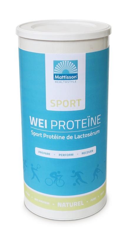 Sport wei whey proteine concentraat naturel