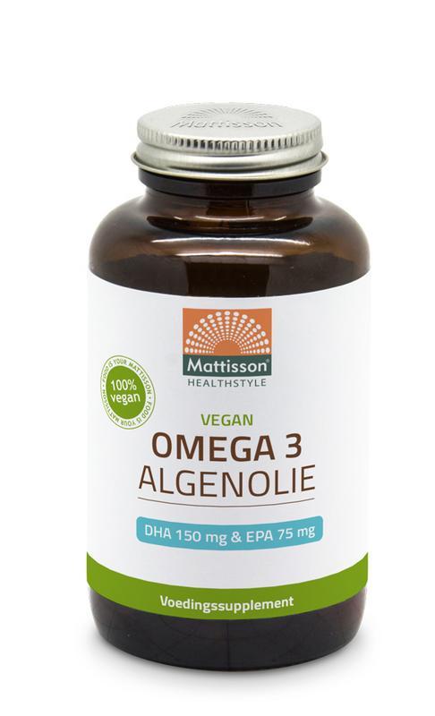 Vegan omega 3 algenolie DHA 150 mg EPA 75 mg