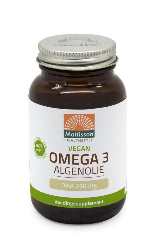 Vegan omega-3 algenolie DHA 260 mg