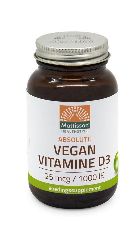 Vegan vitamine D3 25 mcg/1000IE