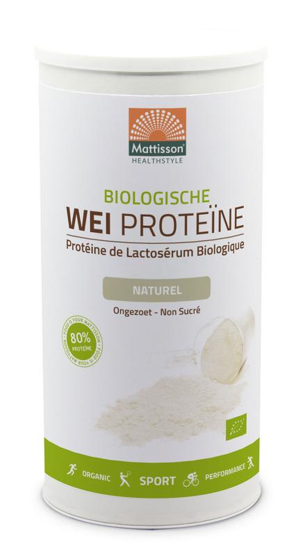 Wei Whey proteine naturel 80% bio