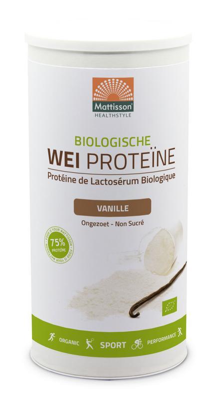 Wei whey proteine vanille 80% bio