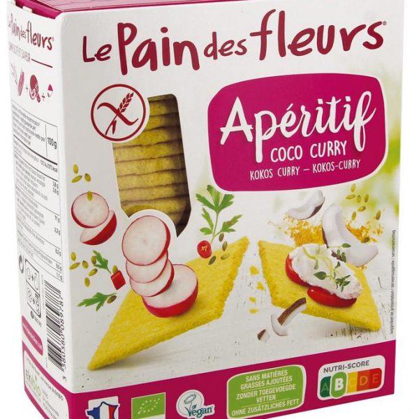 Aperitif crackers kokos / curry bio
