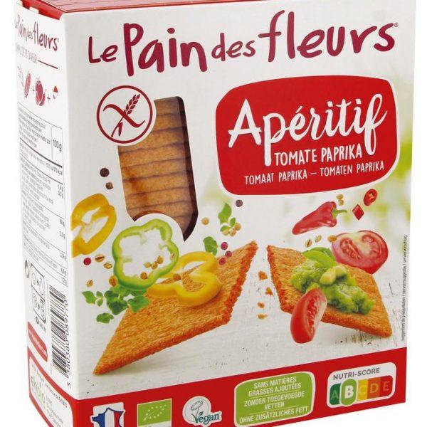 Aperitif crackers tomaat / paprika bio
