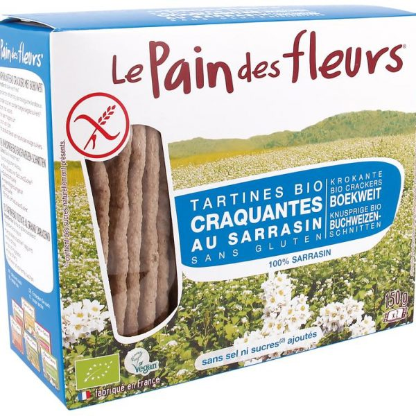Boekweit crackers zonder zout bio