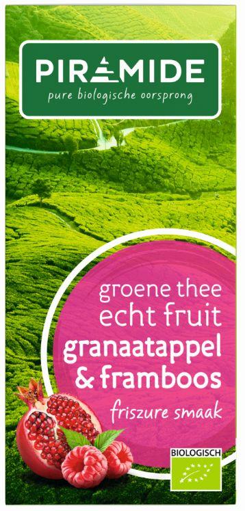 Groene thee granaatappel framboos bio