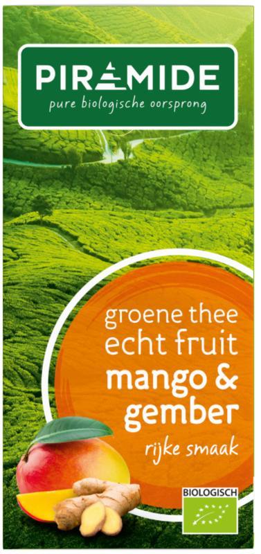 Groene thee mango en gember bio
