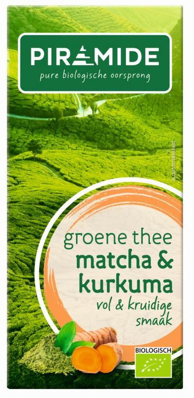 Groene thee matcha kurkuma bio