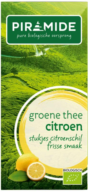 Groene thee met citroen eko bio