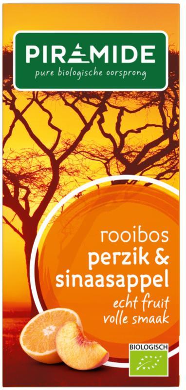 Rooibos perzik sinaasappel thee bio