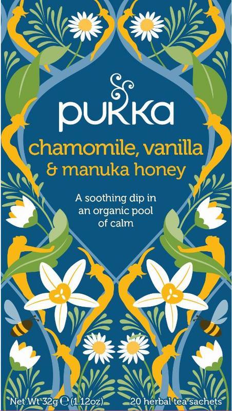 Chamomile vanille/manuka honing bio