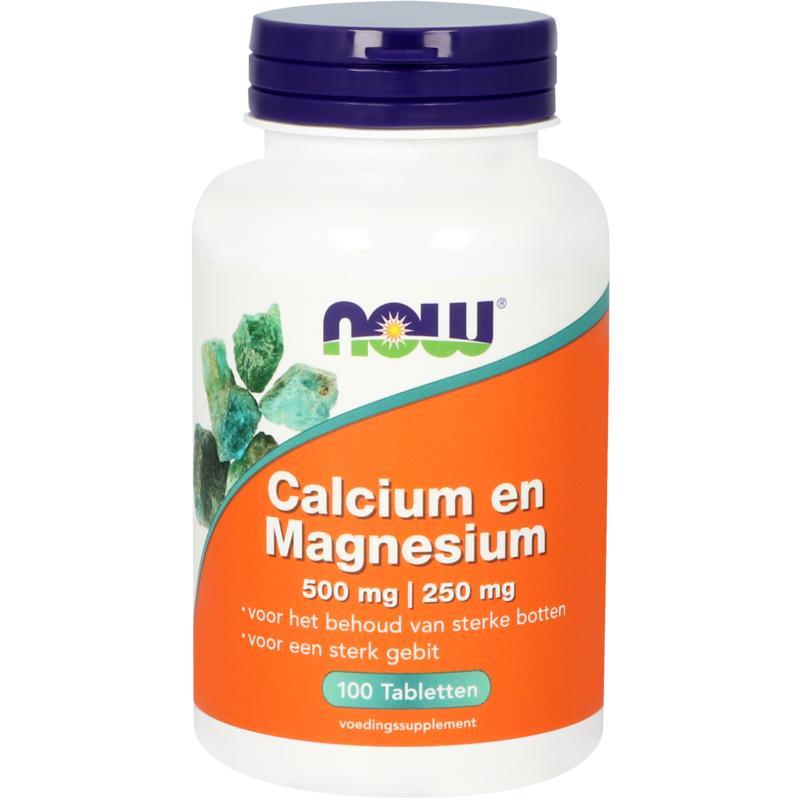 Calcium 500 mg en magnesium 250 mg