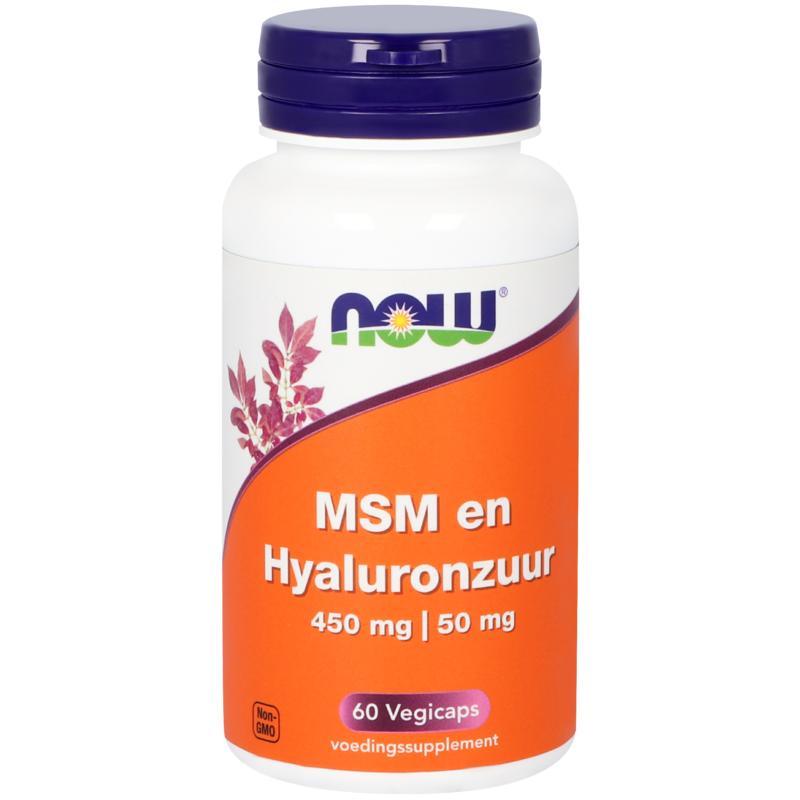 MSM 450 mg en Hyaluronzuur 50 mg