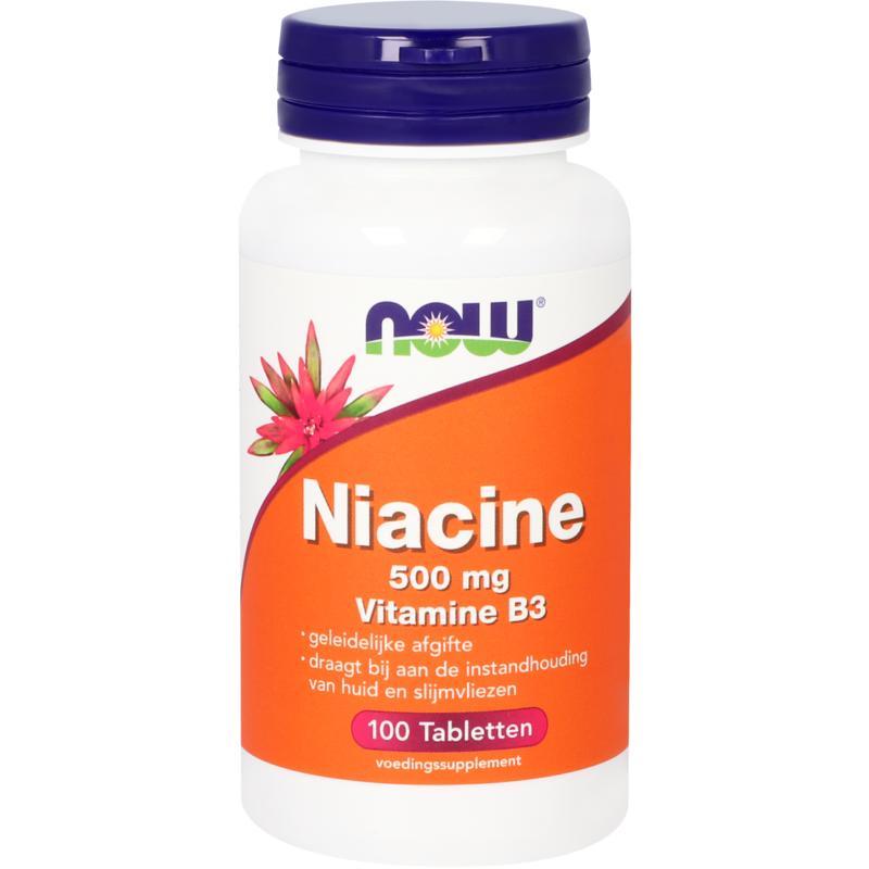 Niacine 500 mg vitamine B3 geleidelijke afgifte