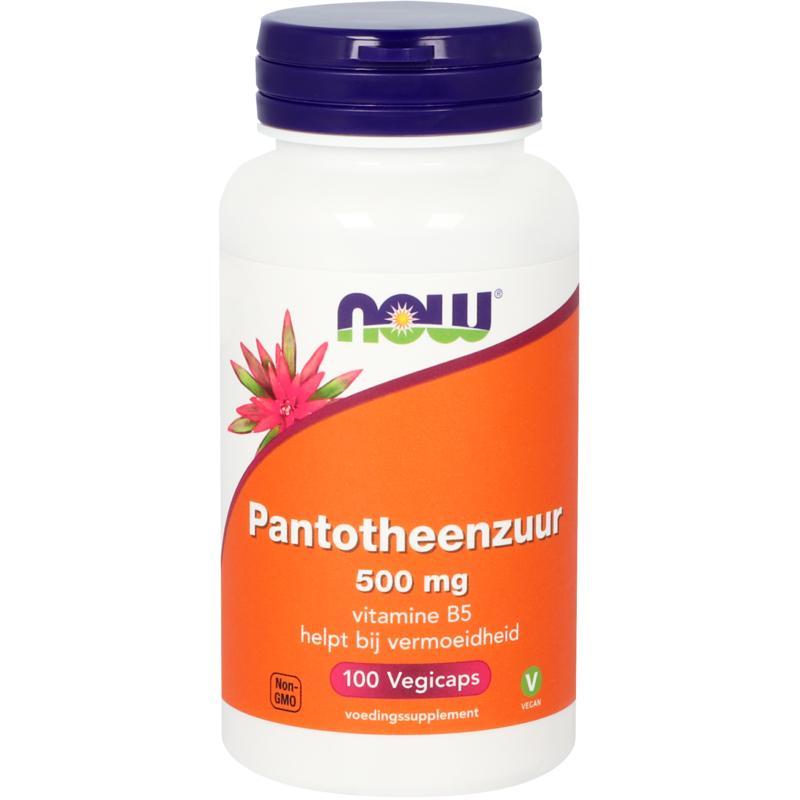 NOW Pantotheenzuur 500 mg (B5)