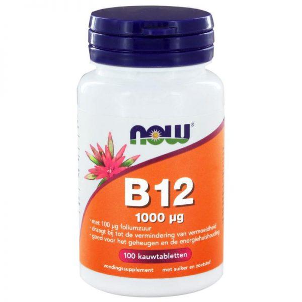Vitamine B12 1000 mcg en Foliumzuur 100 mcg