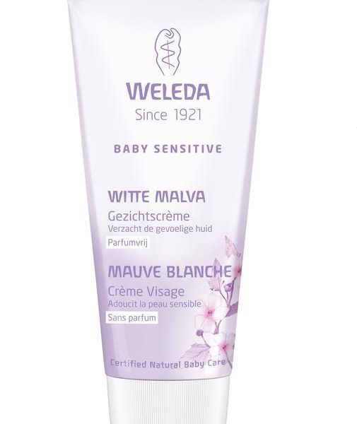 Baby witte malva sensitive gezichtscreme