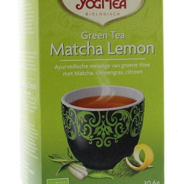 Green tea matcha lemon bio