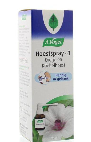 Hoestspray nr. 1 droge hoest en kriebelhoest