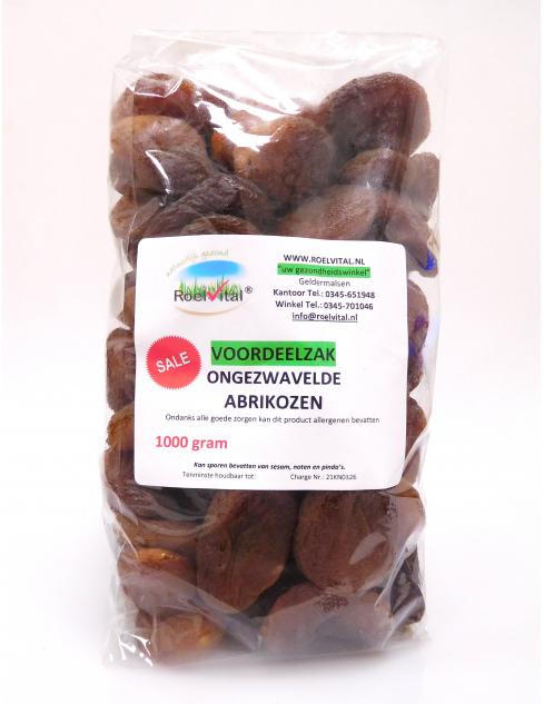 Ongezwavelde abrikozen (voordeelpak)