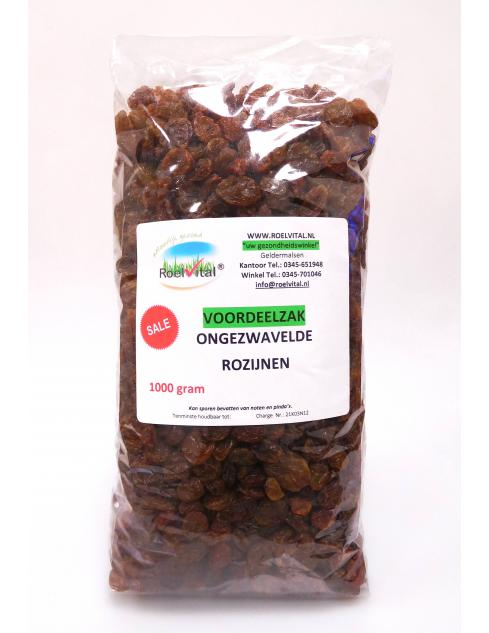 Ongezwavelde Rozijnen 1000 gram (SUPERVOORDEEL)