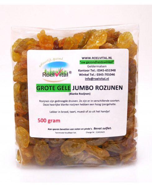 Grote Gele Jumbo Rozijnen (blanke rozijnen)