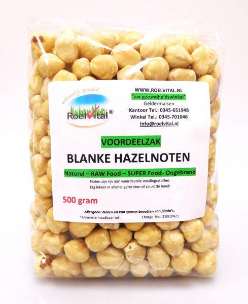 Hazelnoten Ongebrand Blanke VOORDEELZAK 500 gram
