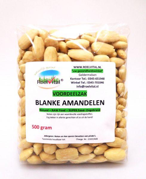 Amandelen Blanke Ongebrand VOORDEELZAK 500 gram