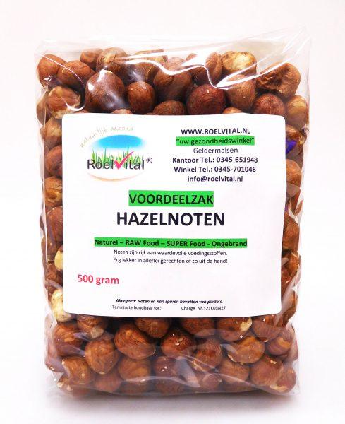 Hazelnoten Ongebrand VOORDEELZAK 500 gram