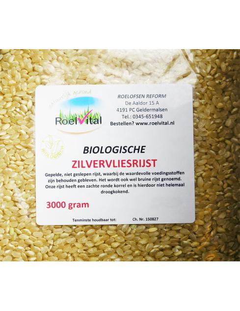 Zilvervliesrijst biologisch bruine rijst voordeelzak
