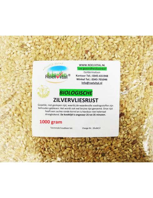 Zilvervliesrijst biologisch bruine rijst