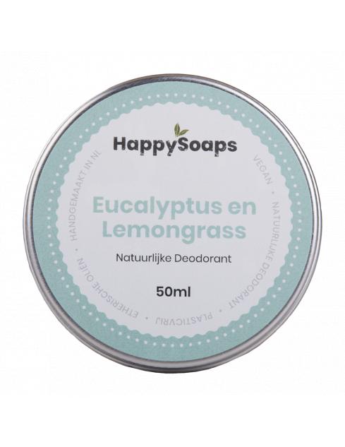 HappySoaps Natuurlijke Deodorant Eucalyptus en Lemongrass
