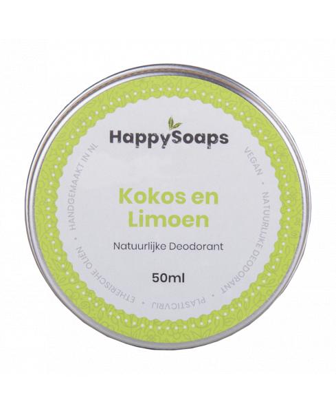 HappySoaps Natuurlijke Deodorant Kokos en Limoen