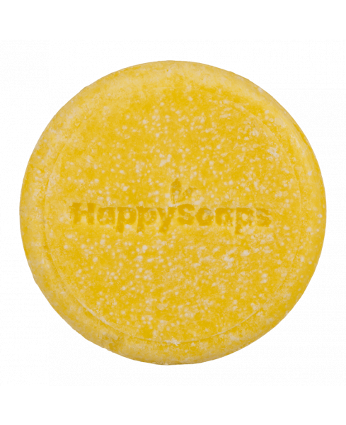 HappySoaps Shampoo Bar Chamomile down en Carry on